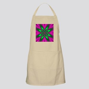 Green Flower on Pink by designeffects Apron