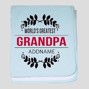 Custom Worlds Greatest Grandpa baby blanket
