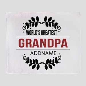 Custom Worlds Greatest Grandpa Throw Blanket