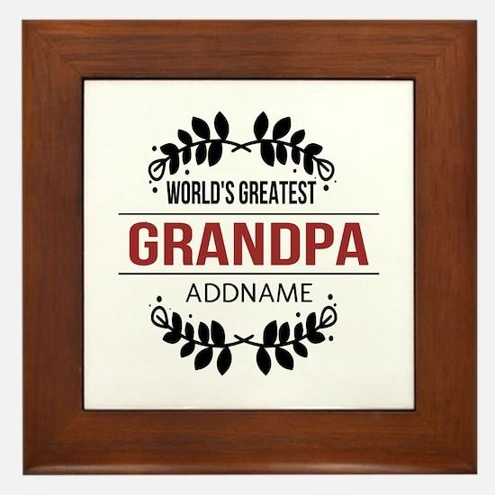 Custom Worlds Greatest Grandpa Framed Tile
