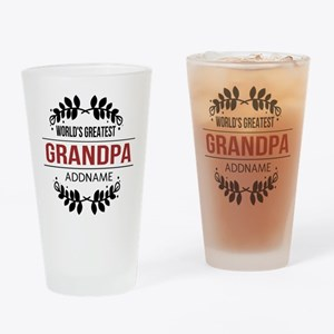 Custom Worlds Greatest Grandpa Drinking Glass