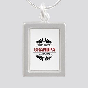 Custom Worlds Greatest G Silver Portrait Necklace