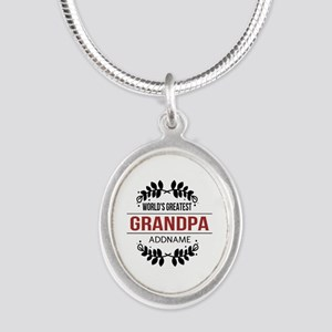 Custom Worlds Greatest Grandp Silver Oval Necklace