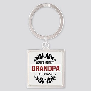 Custom Worlds Greatest Grandpa Square Keychain