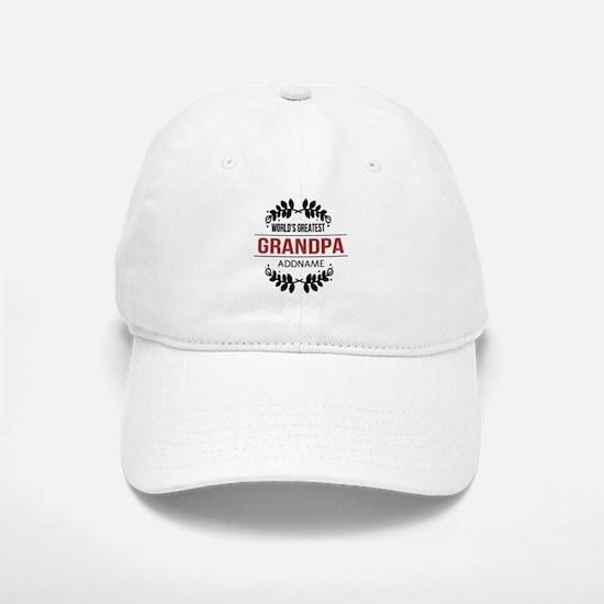 Custom Worlds Greatest Grandpa Baseball Baseball Cap