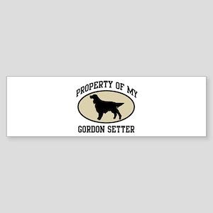 Property of Gordon Setter Bumper Sticker