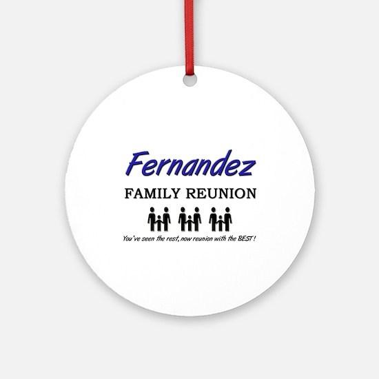 Fernandez Family Reunion Ornament (Round)