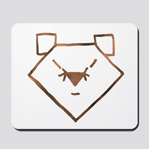 Brown Anime Bear Mousepad