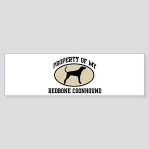 Property of Redbone Coonhound Bumper Sticker