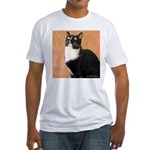 Curious Cat Fitted T-Shirt