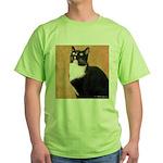 Curious Cat Green T-Shirt