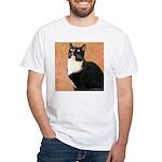 Curious Cat White T-Shirt
