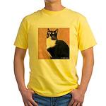 Curious Cat Yellow T-Shirt