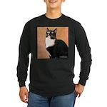 Curious Cat Long Sleeve Dark T-Shirt