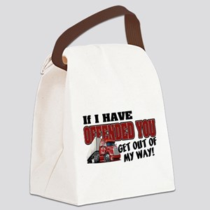 Offended Trucker - Canadian (Red) Canvas Lunch Bag