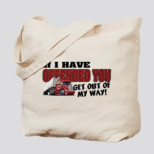 Offended Trucker - Canadian (Red) Tote Bag