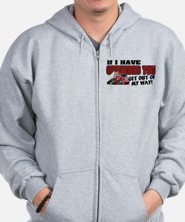 Offended Trucker - Canadian (Red) Zip Hoodie