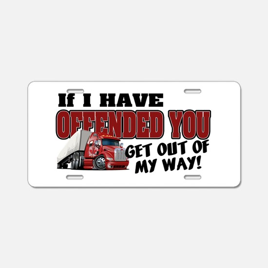 Offended Trucker - Canadian Aluminum License Plate