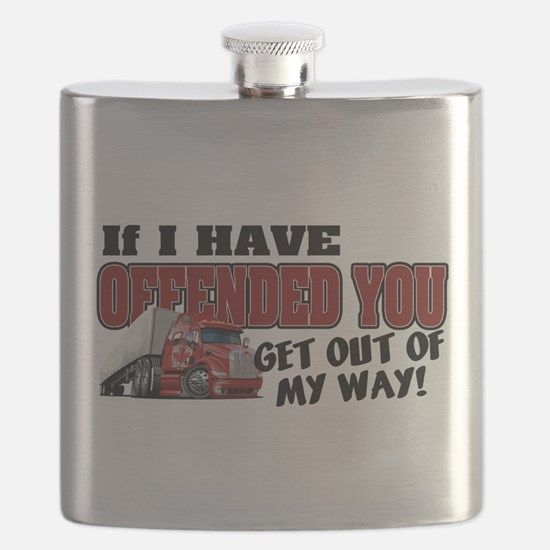 Offended Trucker - Canadian (Red) Flask