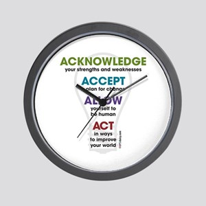 Acknowledge Accept Allow Act Wall Clock