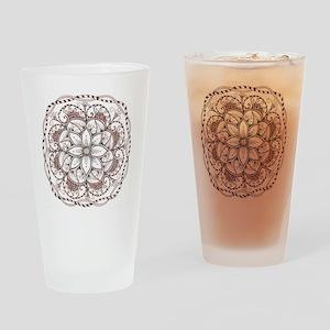 Mandala Drinking Glass