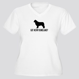 Got Newfoundland Women's Plus Size V-Neck T-Shirt
