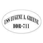 USS EUGENE A. GREENE Sticker (Oval)