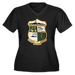 USS EUGENE A Women's Plus Size V-Neck Dark T-Shirt