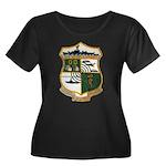 USS EUGE Women's Plus Size Scoop Neck Dark T-Shirt
