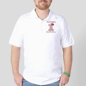 1st Birthday Splat - Personalized Golf Shirt
