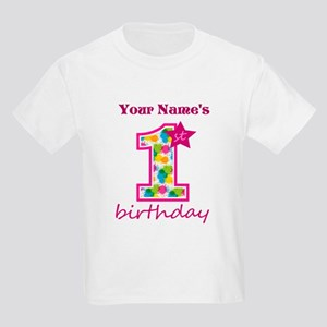 1st Birthday Splat - Personaliz Kids Light T-Shirt