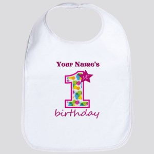 1st Birthday Splat - Personalized Bib