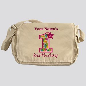 1st Birthday Splat - Personalized Messenger Bag