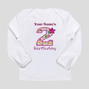 2nd Birthday Splat - Pe Long Sleeve Infant T-Shirt