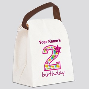 2nd Birthday Splat - Personalized Canvas Lunch Bag