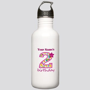 2nd Birthday Splat - P Stainless Water Bottle 1.0L