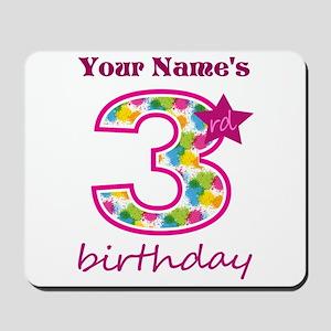 3rd Birthday Splat - Personalized Mousepad