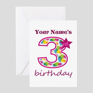 3rd Birthday Splat - Personalized Greeting Card