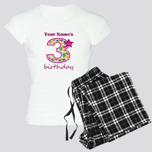 3rd Birthday Splat - Person Women's Light Pajamas