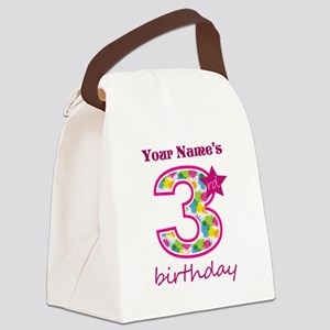 3rd Birthday Splat - Personalized Canvas Lunch Bag