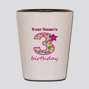 3rd Birthday Splat - Personalized Shot Glass