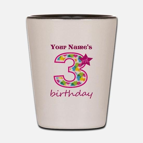 3rd Birthday Splat - Personalized Shot Glass