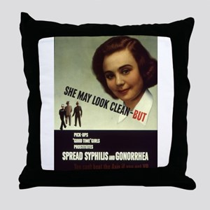 Spread Syphilis and Gonorrhea Throw Pillow