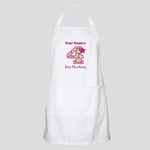 4th Birthday Splat - Personalized Apron