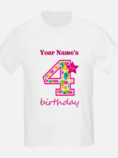 4th Birthday Splat - Personaliz T-Shirt