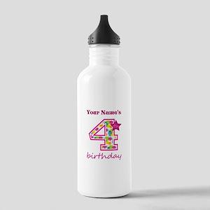 4th Birthday Splat - P Stainless Water Bottle 1.0L