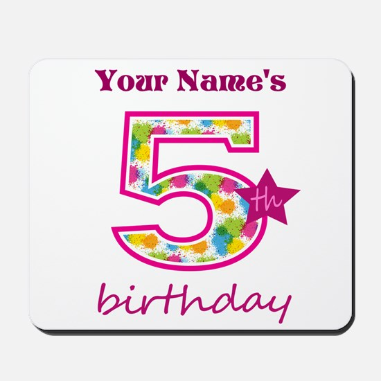 5th Birthday Splat - Personalized Mousepad