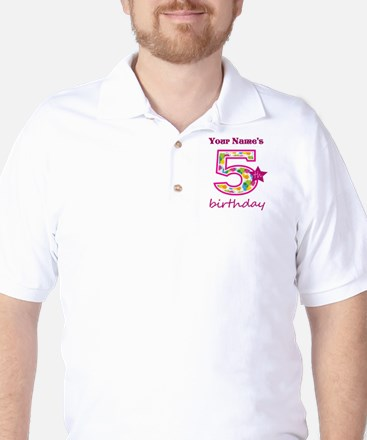 5th Birthday Splat - Personalized Golf Shirt