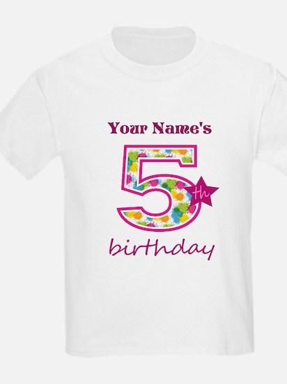 5th Birthday Splat - Personaliz T-Shirt