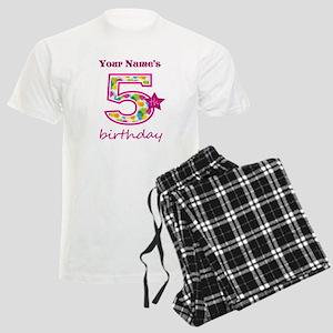 5th Birthday Splat - Personal Men's Light Pajamas